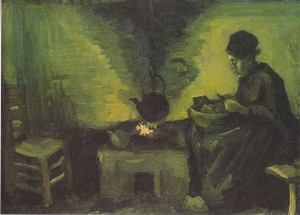 Sendero del Fuego del Hogar | Peasant Woman by the Hearth - Van Gogh