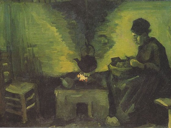 Peasant Woman by the Hearth - Van Gogh