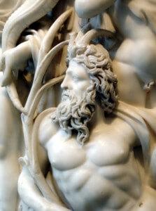Dios Astado del Rio, en sarcófago romano