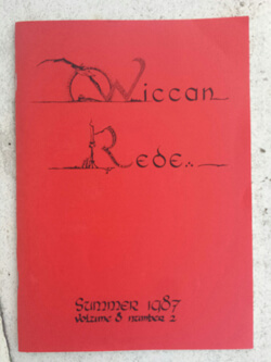 Wiccan Rede 1987