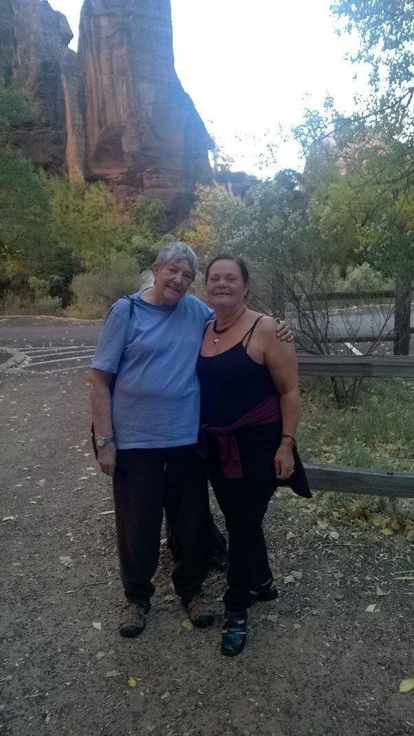 Dayonis y Morgana en el Parque Nacional Zion